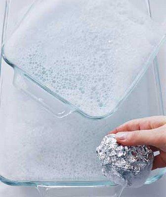 scrub glassware