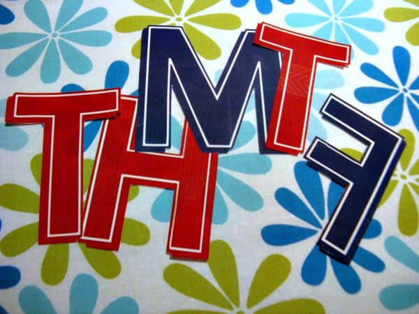 Kids Closet Organizer Tutorial-Letters cut out