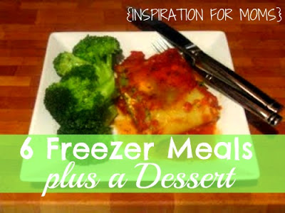 A great collection of 6 freezer meals plus one dessert!