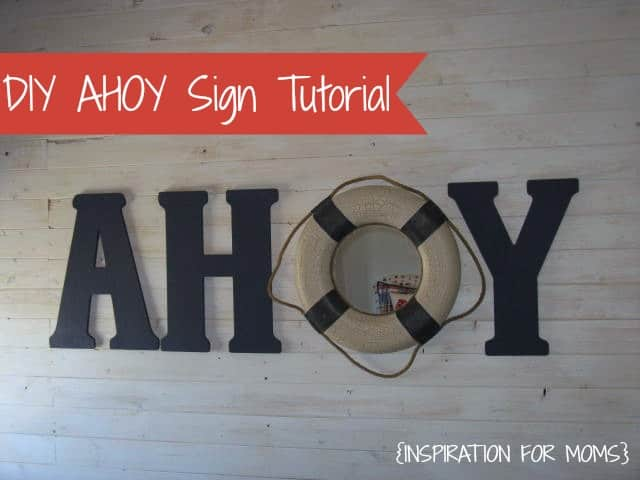 DIY Ahoy Sign