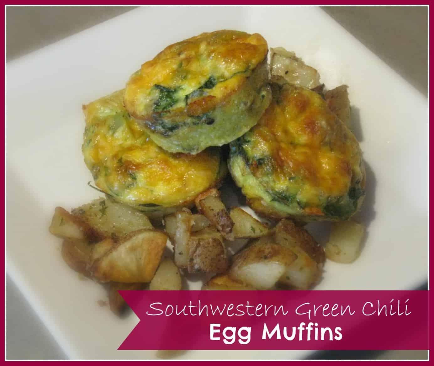 Green Chili Egg Muffins