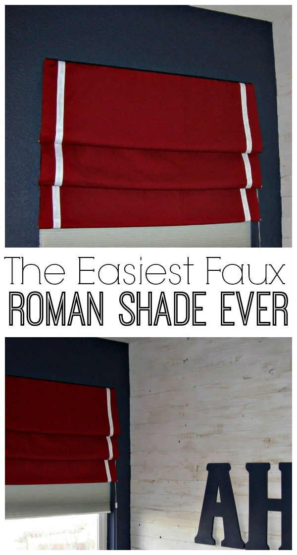 The Easiest Faux Roman Shade Ever
