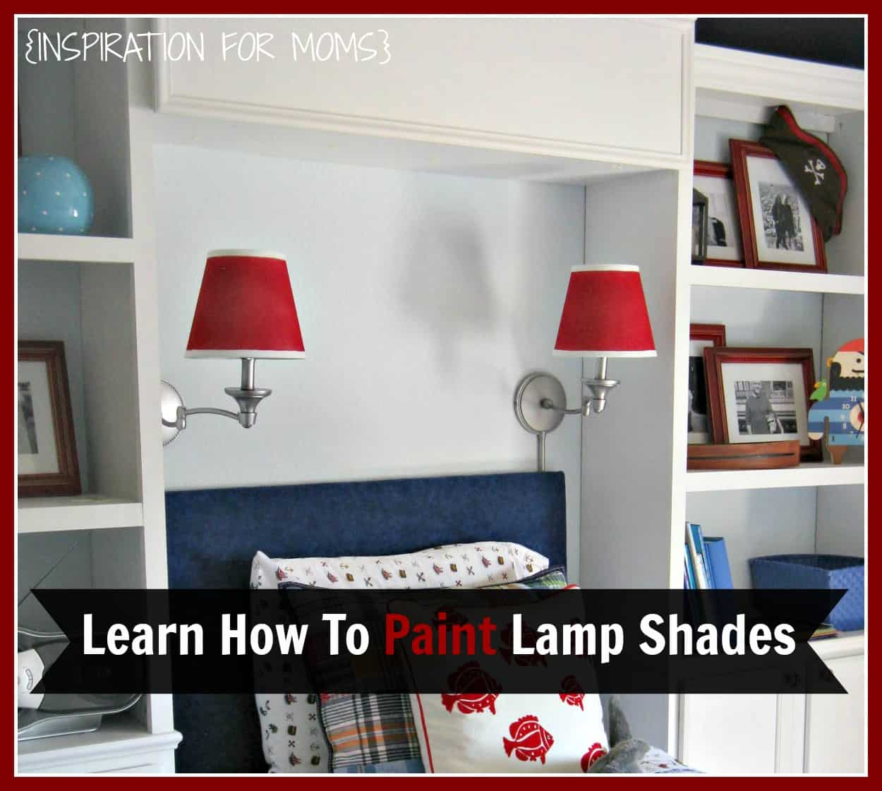 How to Paint Lamp Shades