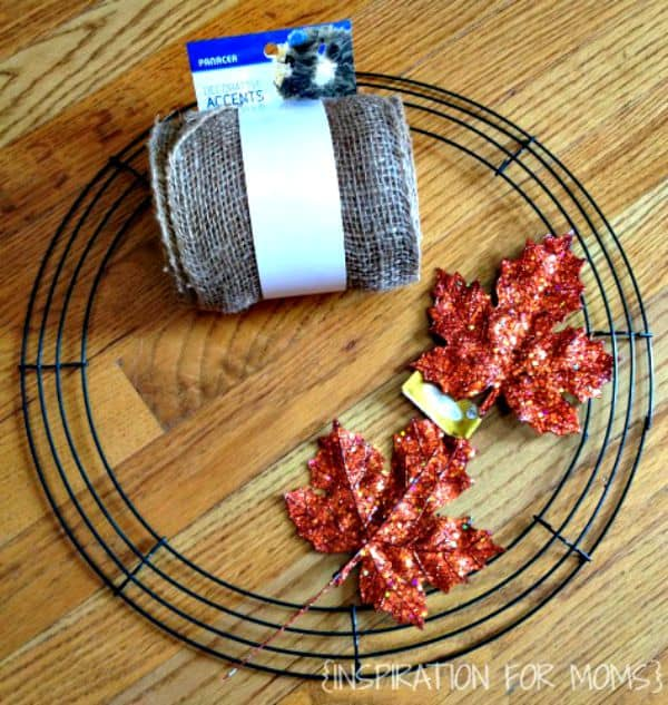 DIY Burlap Wreath-supplies