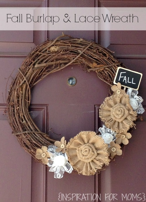 Fall Burlap and Lace Wreath {Tutorial}