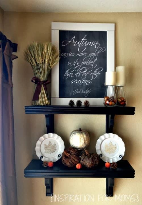 Autumn Inspired Shelves Autumn Chalkboard Printable