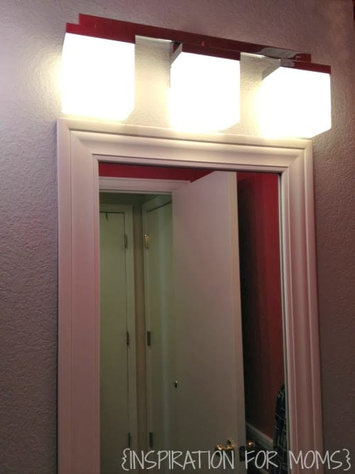 I think they look great in my bathroom  don t you. A New Bathroom Light   Win A Complete Bathroom Makeover