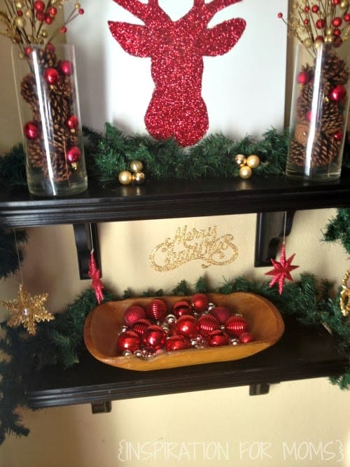 Holiday home tour 2013 diy glitter reindeer inspiration for moms solutioingenieria Choice Image
