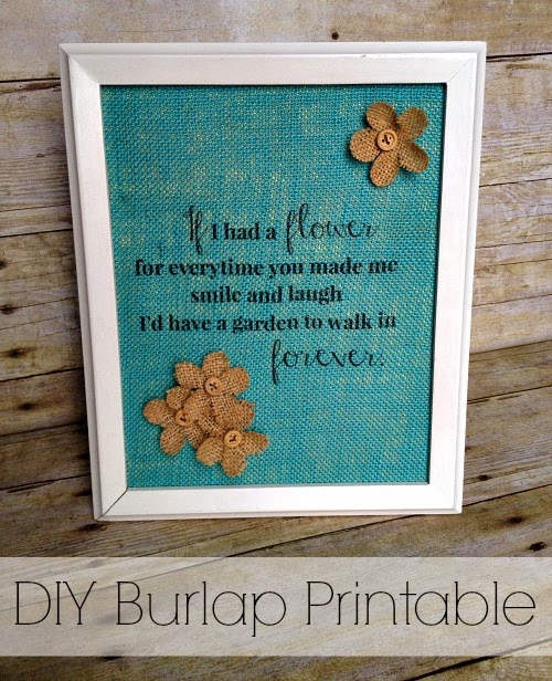 DIY Burlap Printable Tutorial