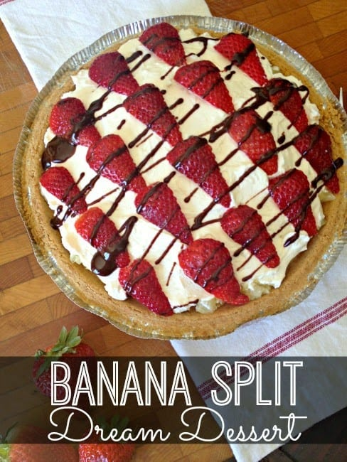Banana Split Dream Dessert Recipe. Holy moly!!!