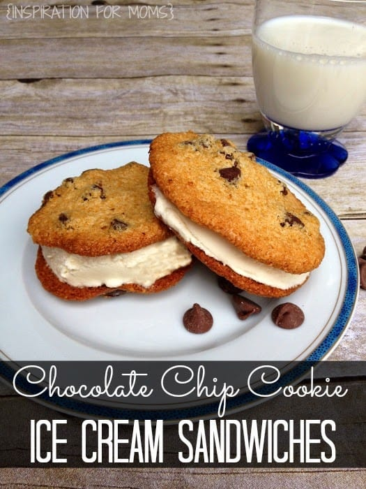 Gluten Free Chocolate Chip Cookie Ice Cream Sandwich