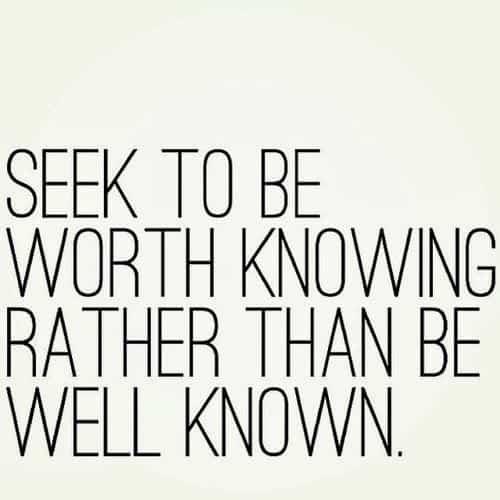 seek to worth knowing