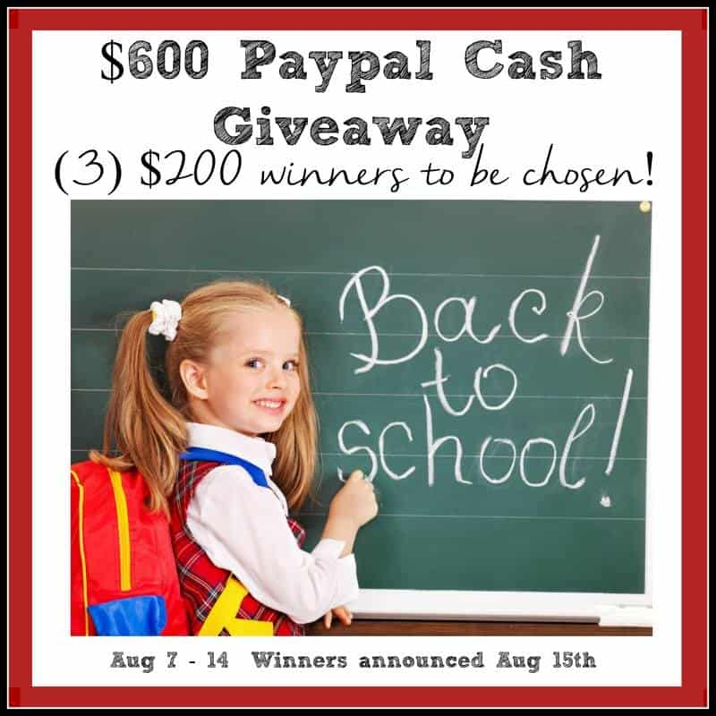 $600 Back to School Giveaway