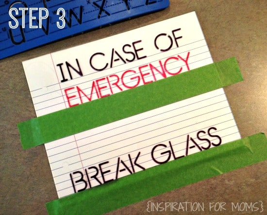 In Case of Emergency - Step Three IFM
