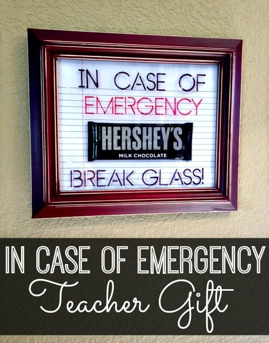 In Case of Emergency Teacher Gift IFM