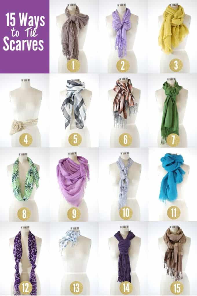 15 ways to tie a scarf