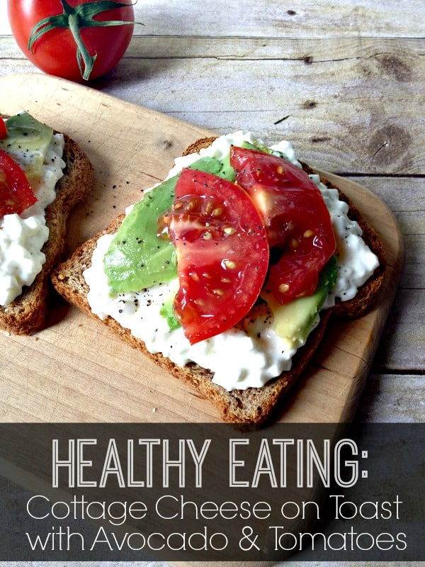 Cottage Cheese on Toast with Avocados and Tomotoes  | www.inspirationformoms.com