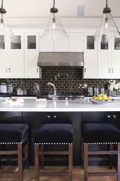 fantastic black tiled kitchen