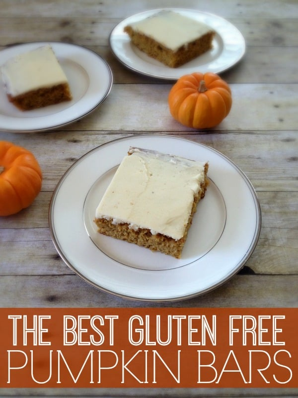 the best gluten free pumpkin bars you will ever try