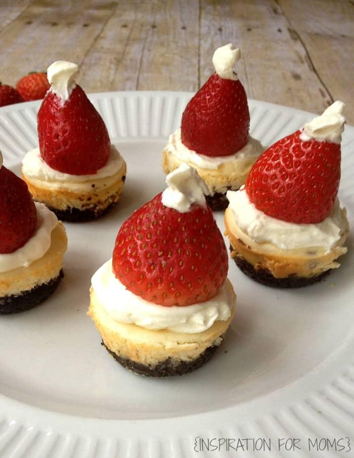 Mini Santa Hat Cheesecakes {Gluten Free} group