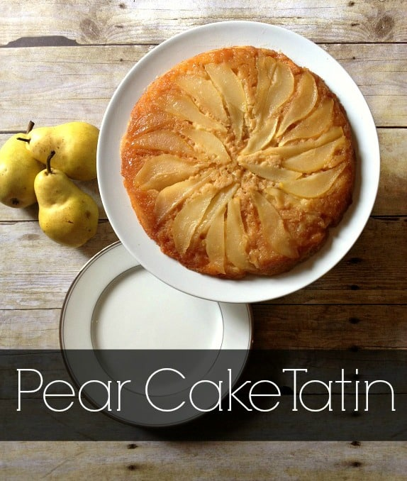 Pear Cake Tatin, an incredible easy dessert that will wow all who partake! #PearCake #Tatin #Pear #Dessert | www.inspirationformoms.com