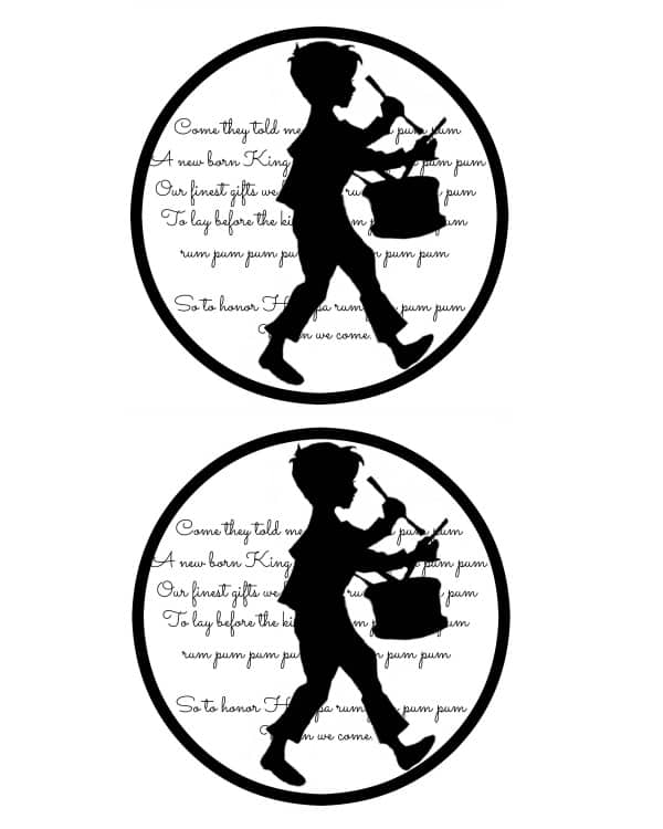 Little Drummer Boy Gift Tags Printable Master