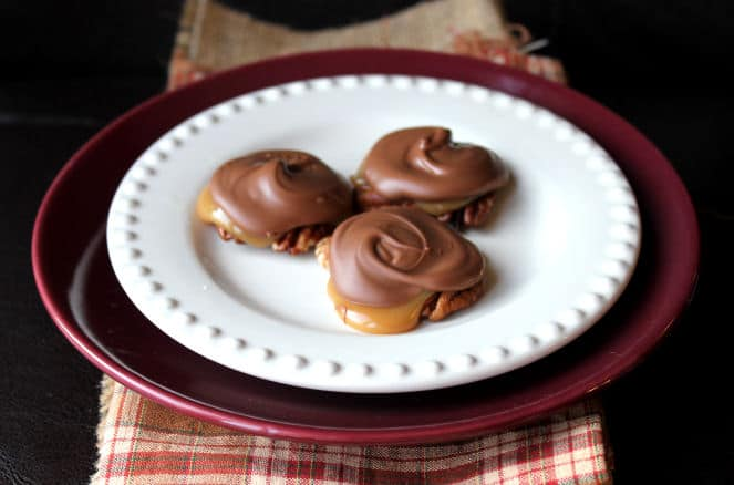 caramel and turtle clusters