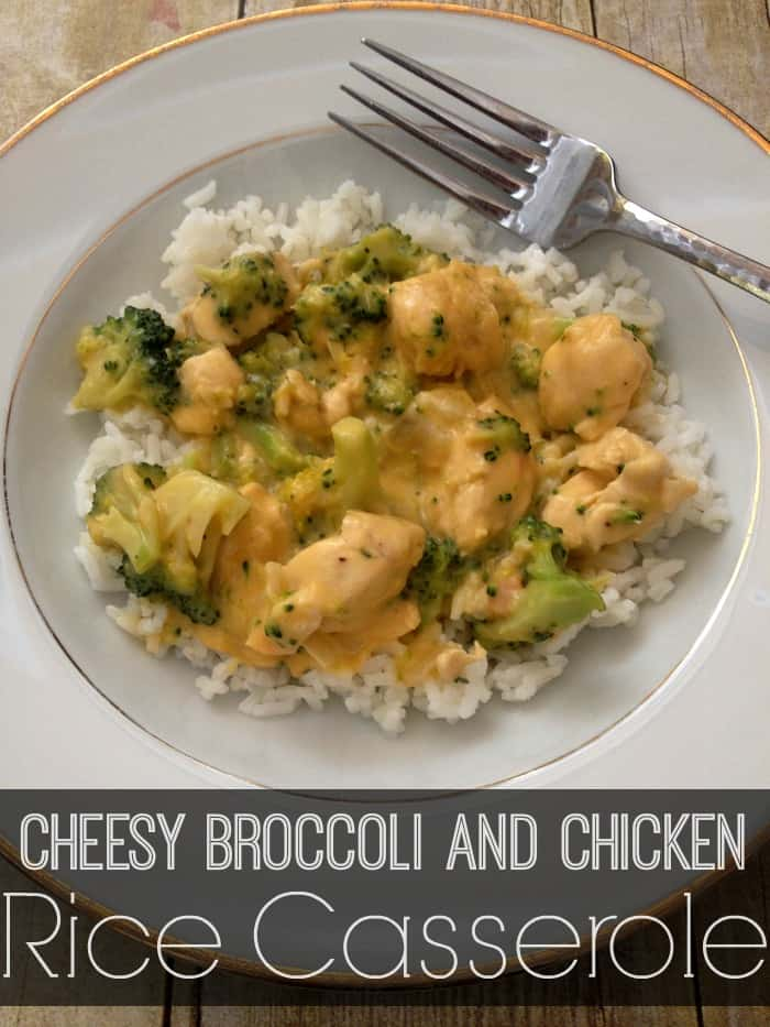 Cheesy Broccoli Chicken Rice Casserole