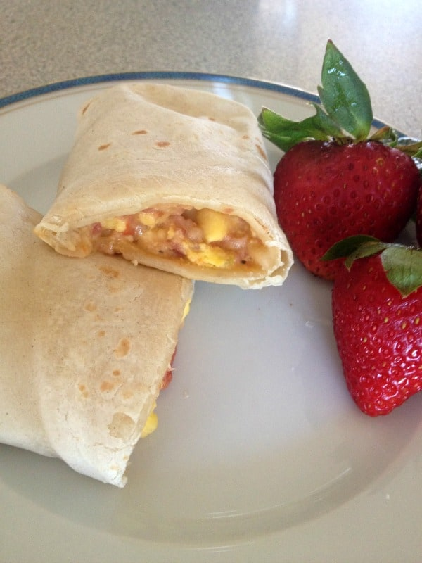 El Monterey Egg and Bacon Burrito close