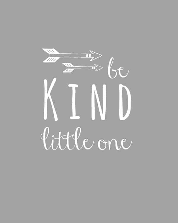 be kind little one ~ nursery art printable