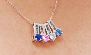 birth stone necklaces