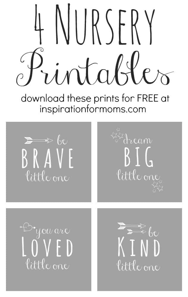 image about Free Printable Nursery Art identify Absolutely free Nursery Artwork Printables - Commitment For Mothers