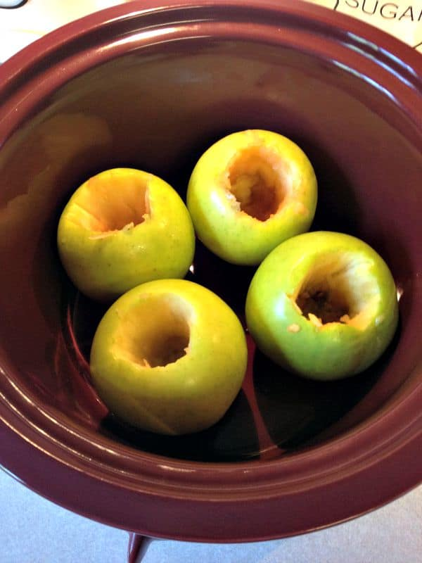 Slow Cooker Baked Apples-in cooker