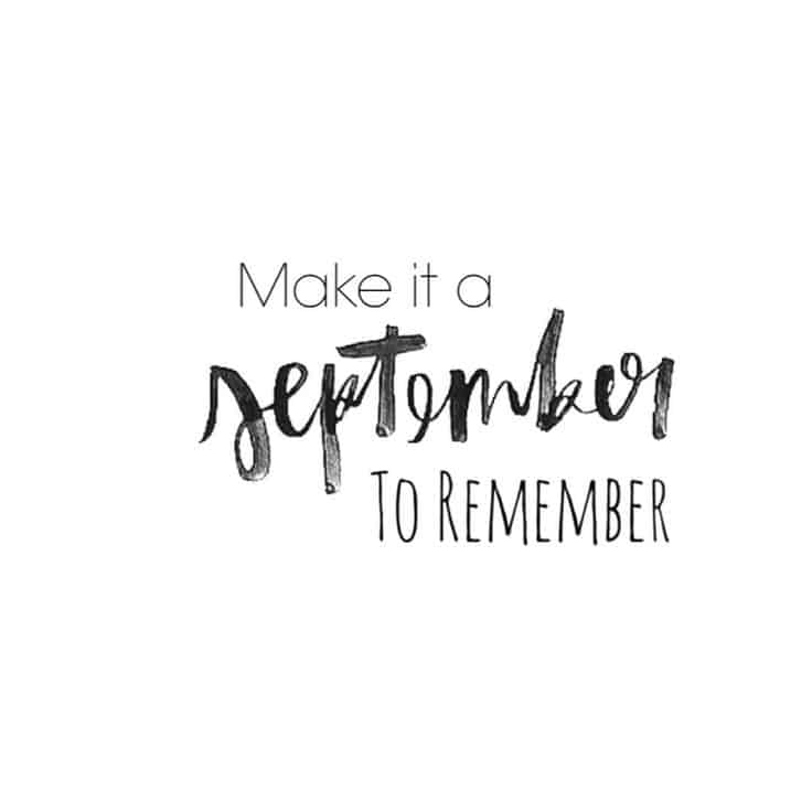 make it a september