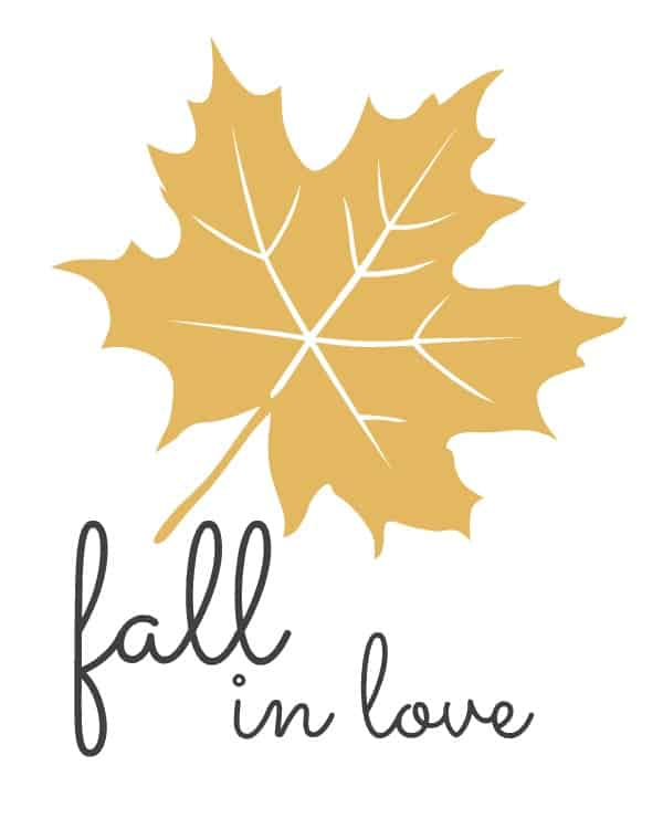 fall in love free fall printables