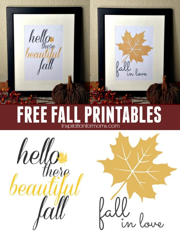 Celebrate the fall season with these two FREE fall printables from Inspiration for Moms.