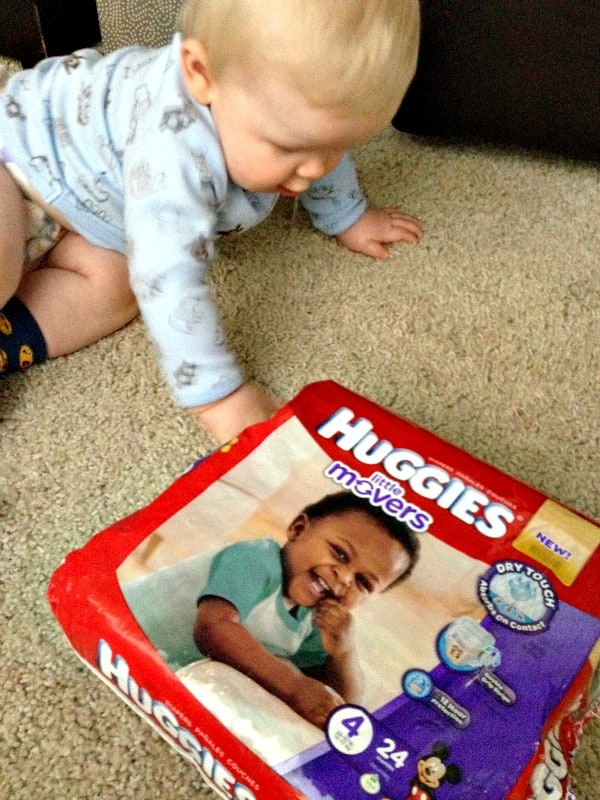 b moving with Huggies Little Movers