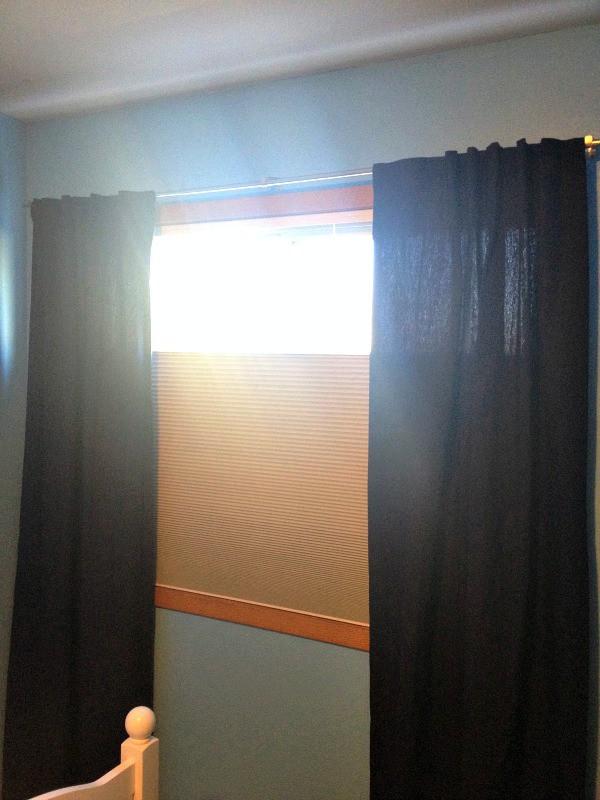 cellular shade in boys bedroom