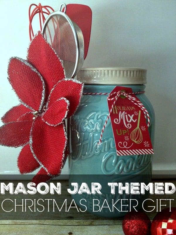 mason jar themed christmas baker gift