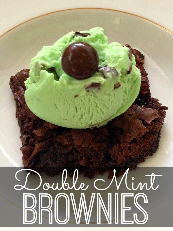 Double-Mint-Brownies