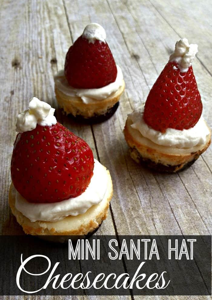 Mini Santa Hat Cheesecakes {Gluten-Free}