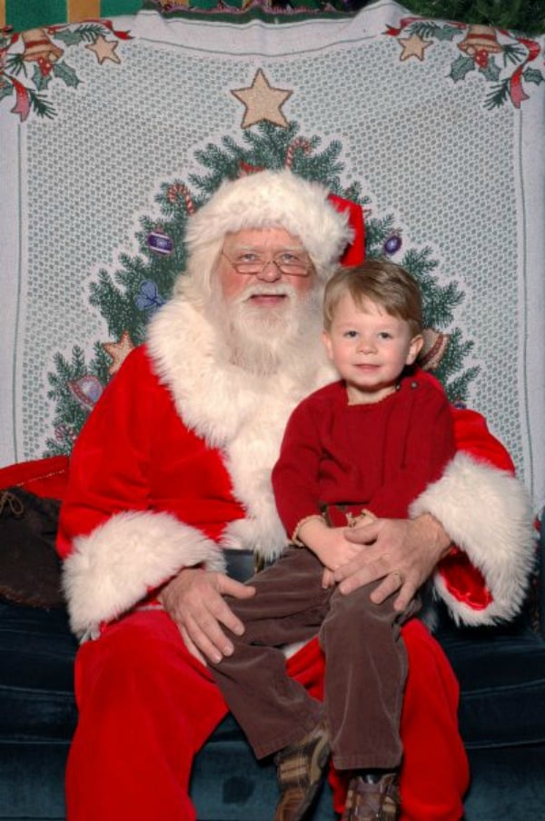 santa with my little boy