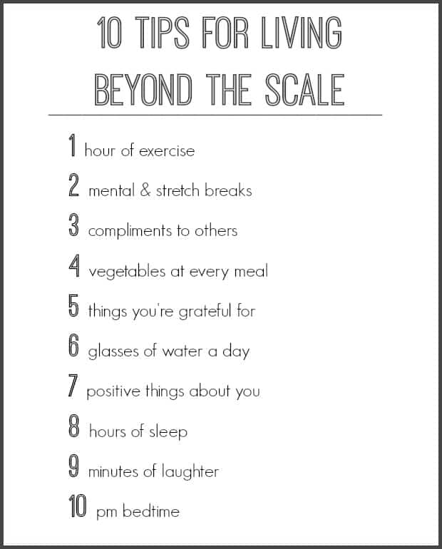 10 Tips for Living Beyond the Scale - Let 2016 be your healthiest year yet!