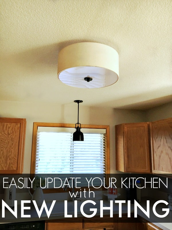 Easily Update Your Kitchen with New Lighting. In only an hour or so you can give your kitchen a whole new look!