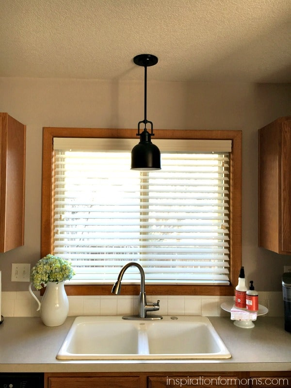 Updating The Kitchen With New Lighting Inspiration For Moms