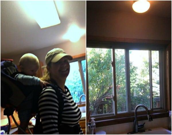 before kitchen lighting