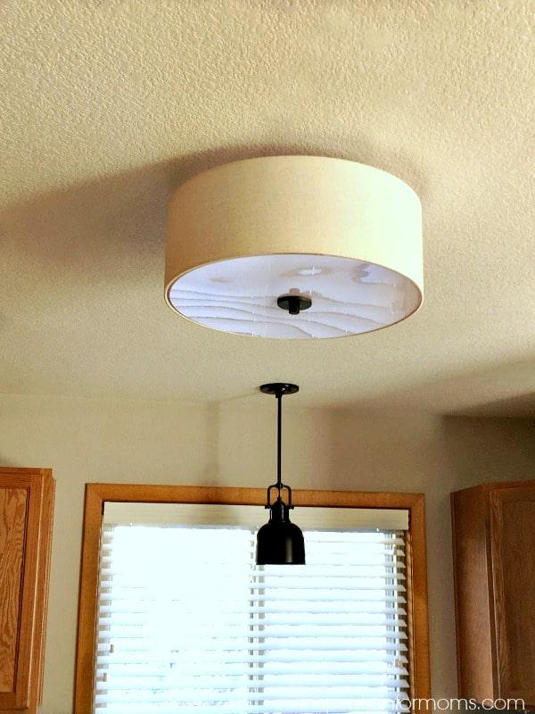 bronze off-white ceiling light