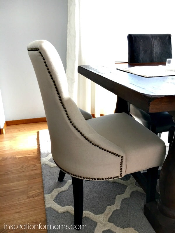 close up of chair in dining room