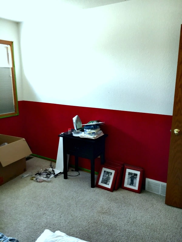 guest bedroom office makeover project- other wall