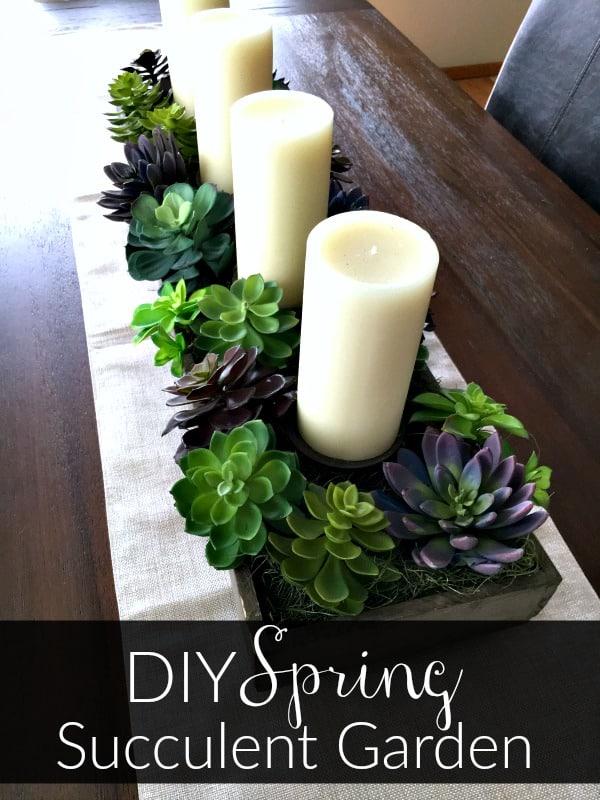 DIY spring succulent garden idea -planter